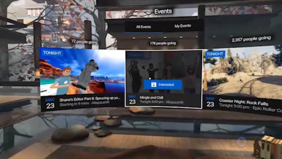 Oculus Go Facebook Events