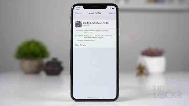 Install iOS 12 Beta