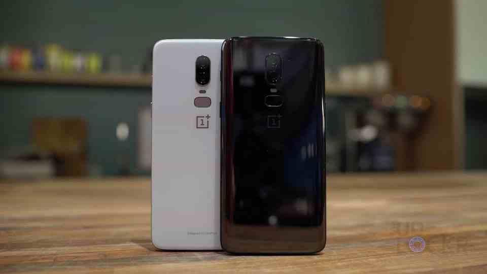 OnePlus 6 White and Black