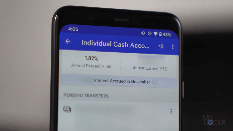 Individual Cash Account
