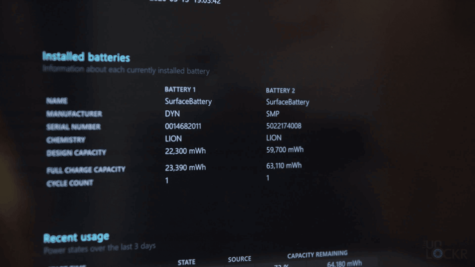 Battery Reports