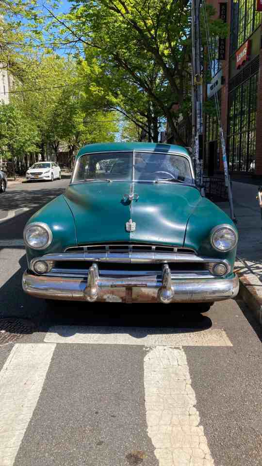 iPhone SE sample image of a classic car