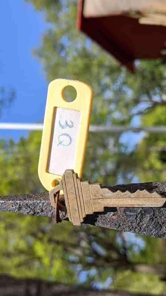 Pixel 3a sample image of a key