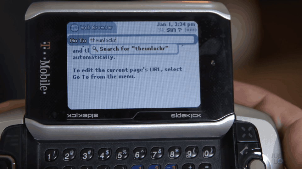 Internet Access on SideKick
