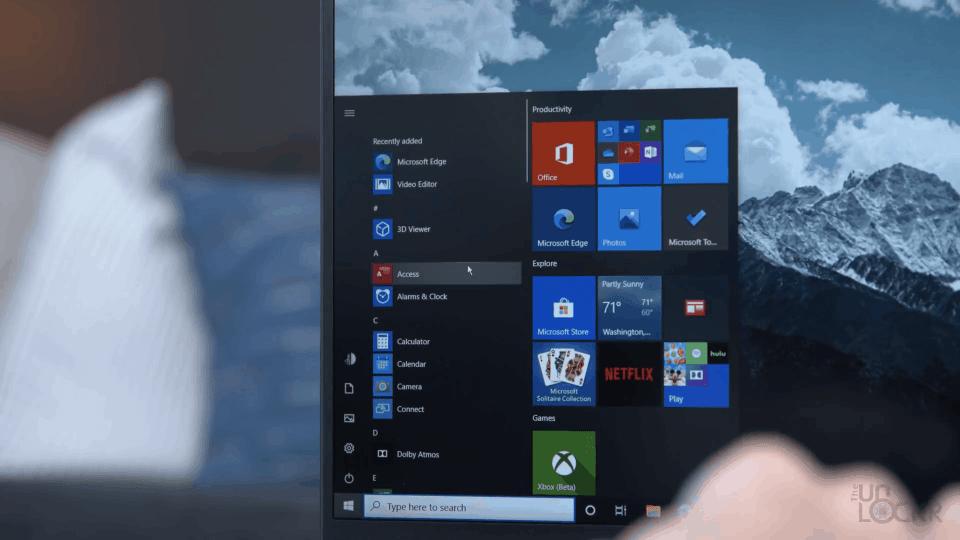 Scrolling in Windows Menu