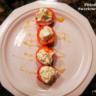 Pitted Apricot with Sweetened Vanilla Ricotta