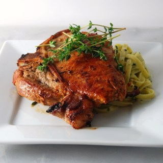 Flattened Pork Chops with Thyme