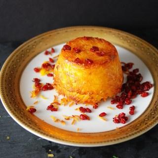 Persian Baked Saffron Rice – Tahchin
