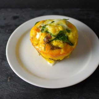 Sausage, Spinach & Mozzarella Egg Muffin