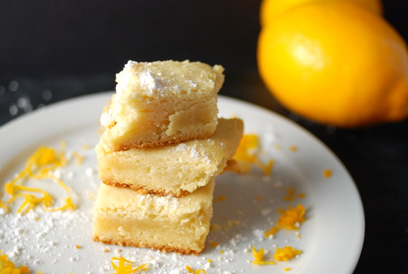 Meyer Lemon Shortbread Cookies