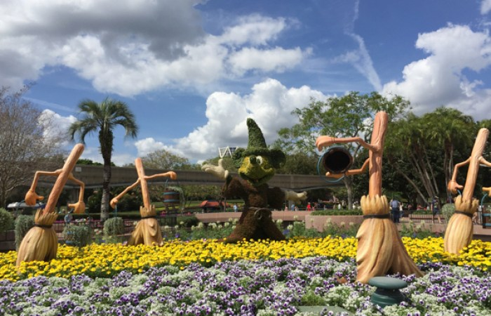 Fantasia topiaries, located at Future World