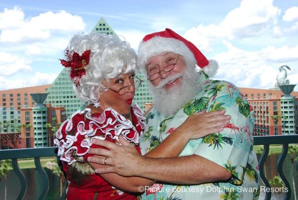 Santa Claus and Mrs. Claus
