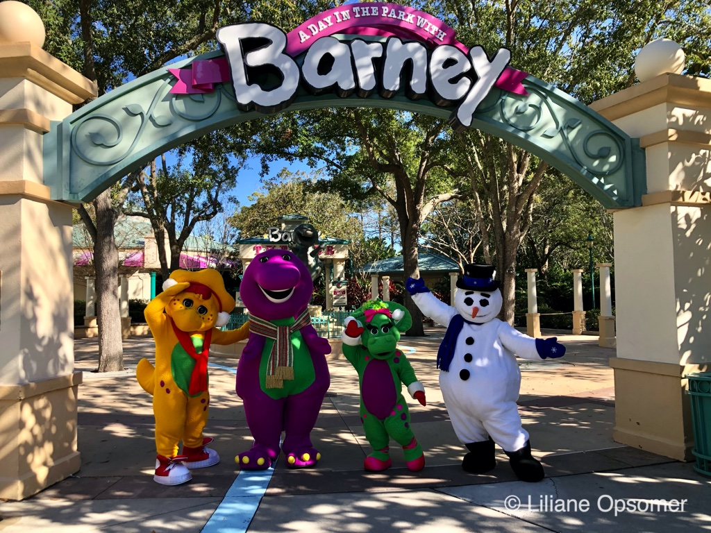 And yes, A Day in the Park with Barney also gets a holiday overlay.
