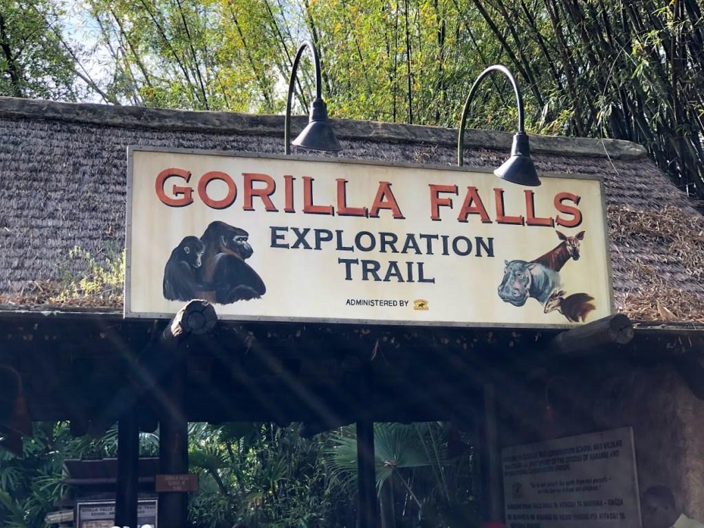 Gorilla Falls Exploration Trail entrance Disney's Animal Kingdom