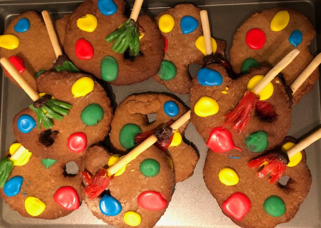 Artist palette cookie