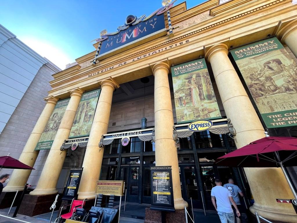 Universal Orlando Revenge of the Mummy entrance enhanced effects