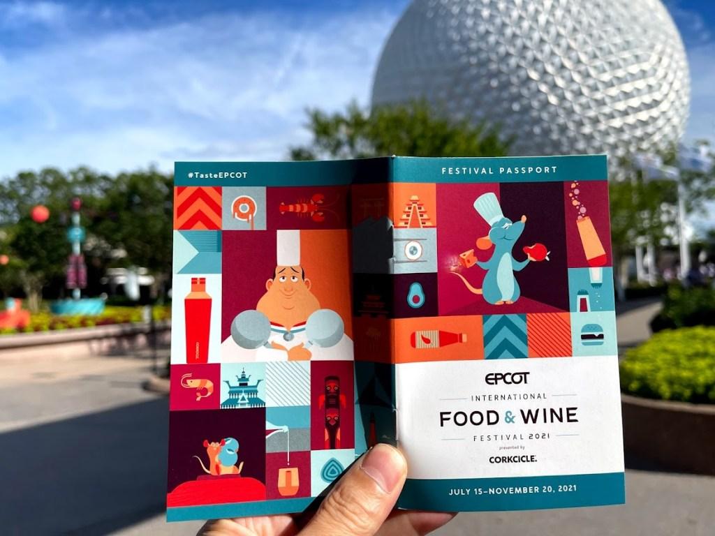 2021 EPCOT International Food & Wine Festival passport