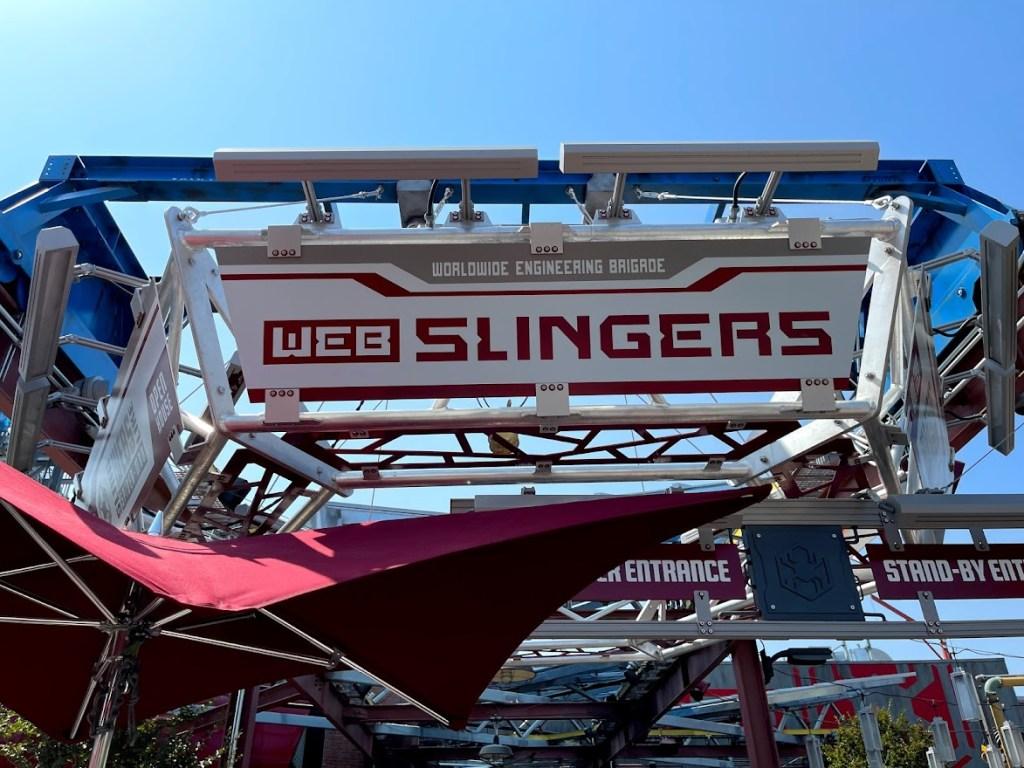 Web Slingers entrance at Disney California Adventure Avengers Campus