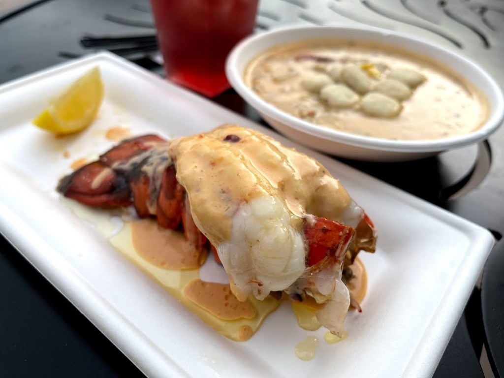 lobster tail from Lobster Landing at EPCOT International Food & Wine Festival 2021