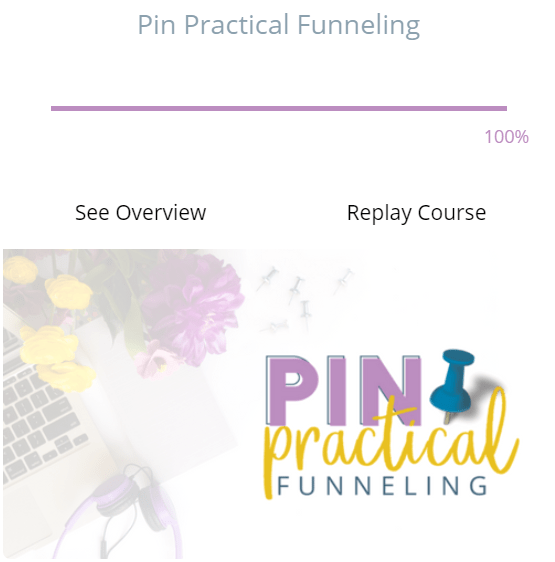 Pin practical funnelling. The best free courses for beginners.
