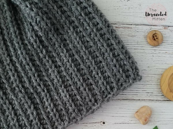 Superior Beanie | Knit Look | Free Crochet Pattern | The Unraveled Mitten