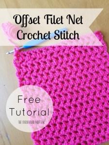 Offset Filet Net Stitch   Free Crochet Tutorial   The Unraveled Mitten   Croche Stitches   Easy