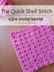Quick Shell Stitch   Free Croche Tutorial   The Unraveled Mitten   Easy   Crochet Stitches