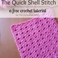 Quick Shell Crochet Stitch Tutorial