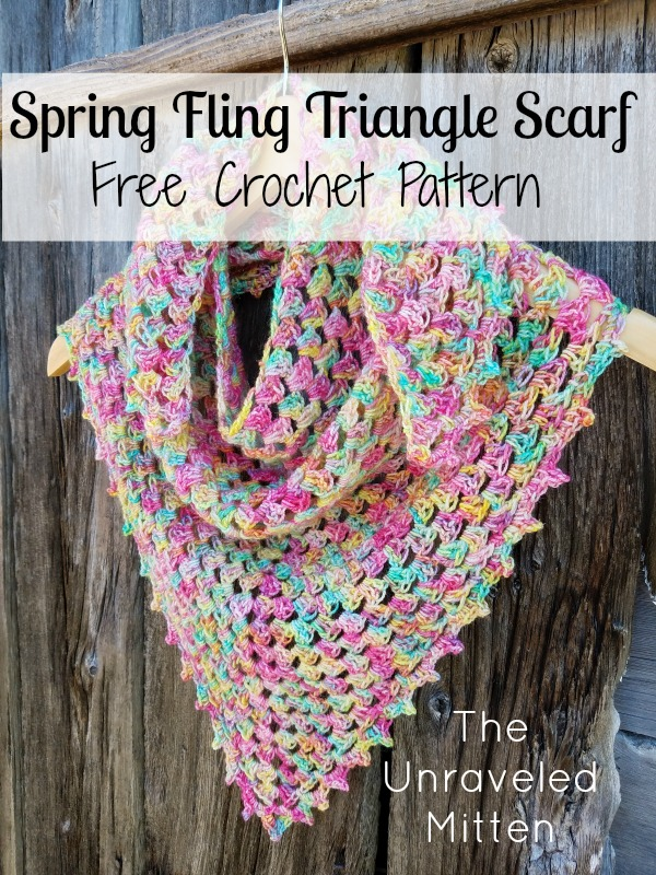 Spring Fling Triangle Scarf A Free Crochet Pattern The Unraveled