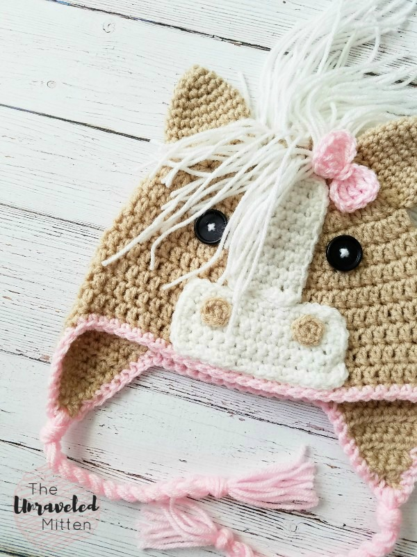Callie Horse Hat | Free Crochet Pattern | Baby, Toddler, Child, Adult Sizes | The Unraveled Mitten
