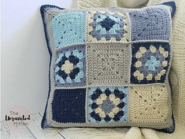 Lake Breeze Pillow | Part 1 | Free Crochet Pattern | The Unraveled Mitten