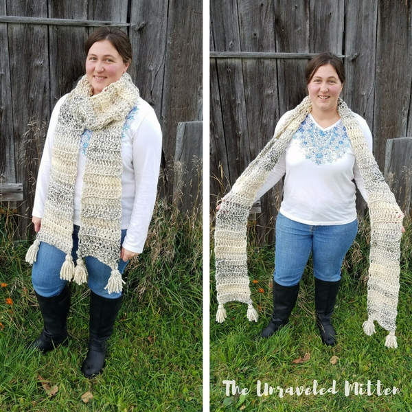 Easy Super Scarf | Free Crochet Pattern | The Unraveled Mitten | Beginner Pattern