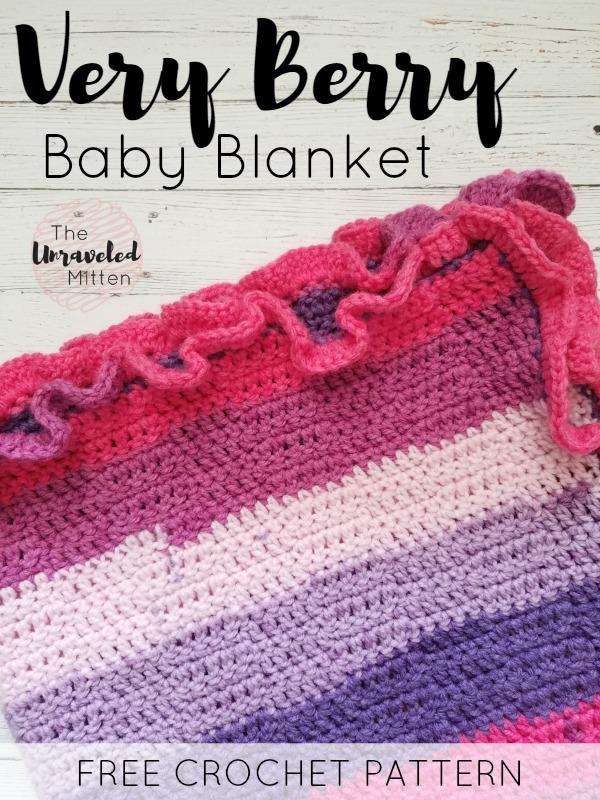 Very Berry Baby Blanket   Free Easy Crochet Pattern   The Unraveled Mitten
