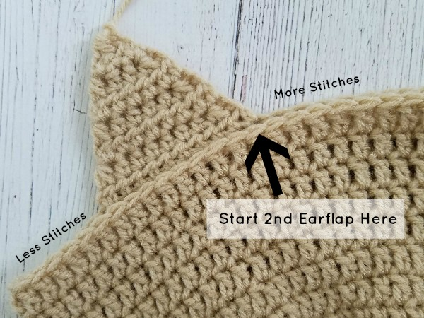 Earflap Placement for Callie Horse Hat