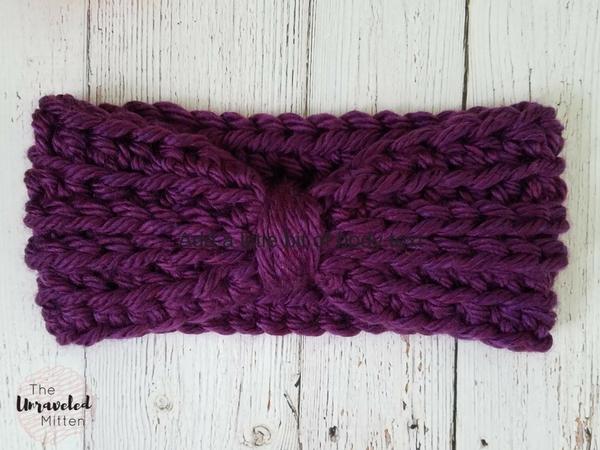 Two Track Ear Warmer | Crochet Pattern | The Unraveled Mitten
