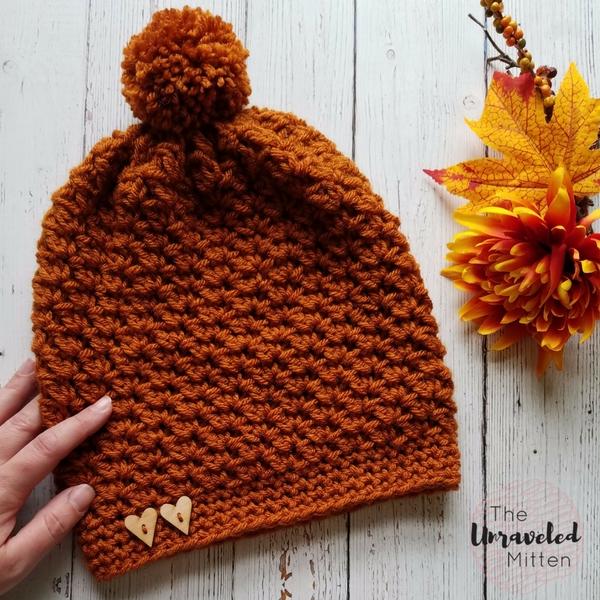 Wildwood Slouchy Beanie   Free Crochet Pattern   The Unraveled MItten