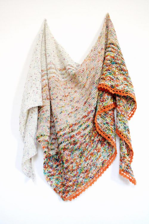 Flat Iron Shawl | Crochet Pattern | 9 Crochet Shawls for Spring Round up by The Unraveled Mitten