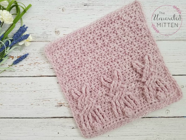 Cute Bunny Square: Free Crochet Cable Pattern