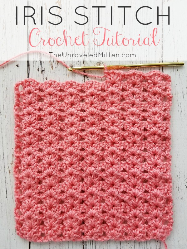 Iris Stitch Crochet tutorial | The Unraveled Mitten