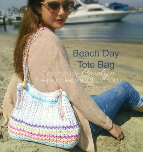 Beach Day Tote Bag | Mother's Day Crochet Pattern Round Up by The Unraveled Mitten