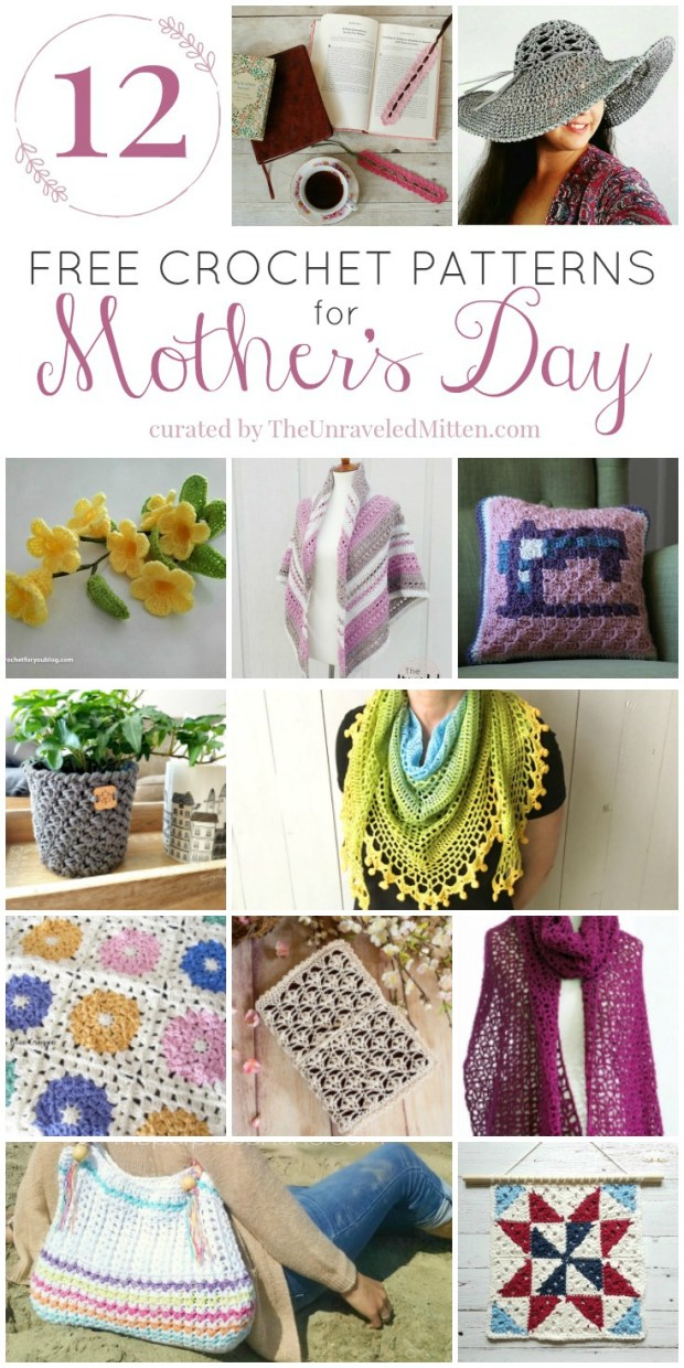 Crochet Gifts for Mother's Day | Free Crochet Pattern Round Up by The Unraveled Mitten