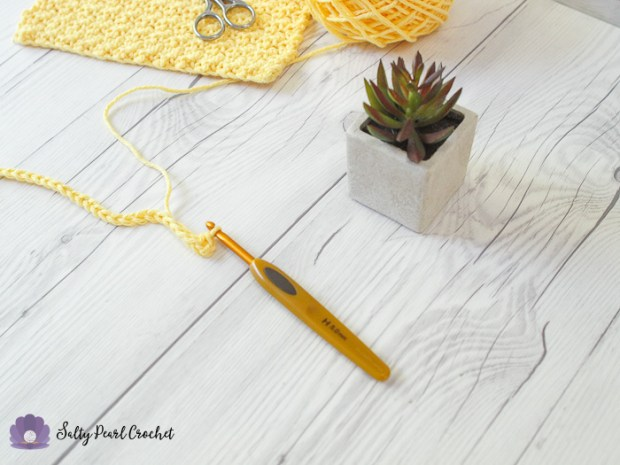 Crochet Lemon Peel Stitch Tutorial Step 2