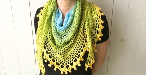 Po,m Pom Happiness Shawl | Mother's Day Crochet Pattern Round Up by The Unraveled Mitten