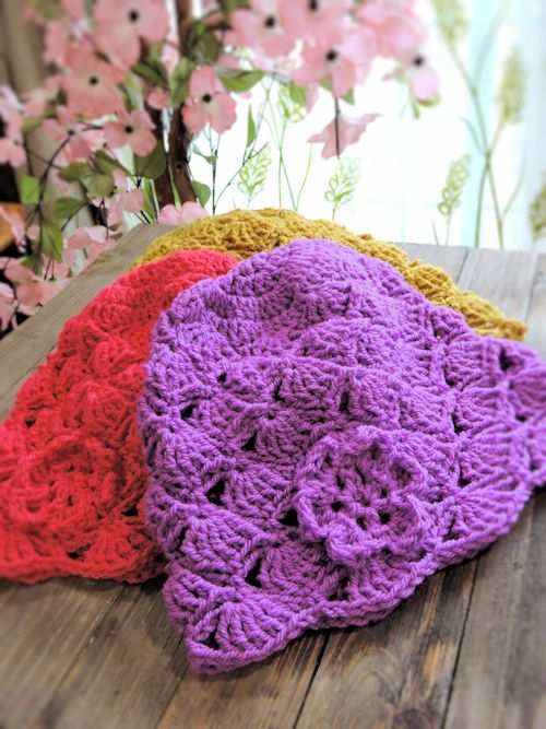 Dakota Belle Beanie by Kim Guzman | Part of a Crochet Hat Pattern Round up on The Unraveled Mitten
