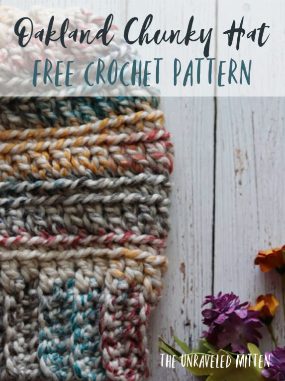 Oakland Chunky Crochet Hat   Free Crochet Pattern   The Unraveled Mitten