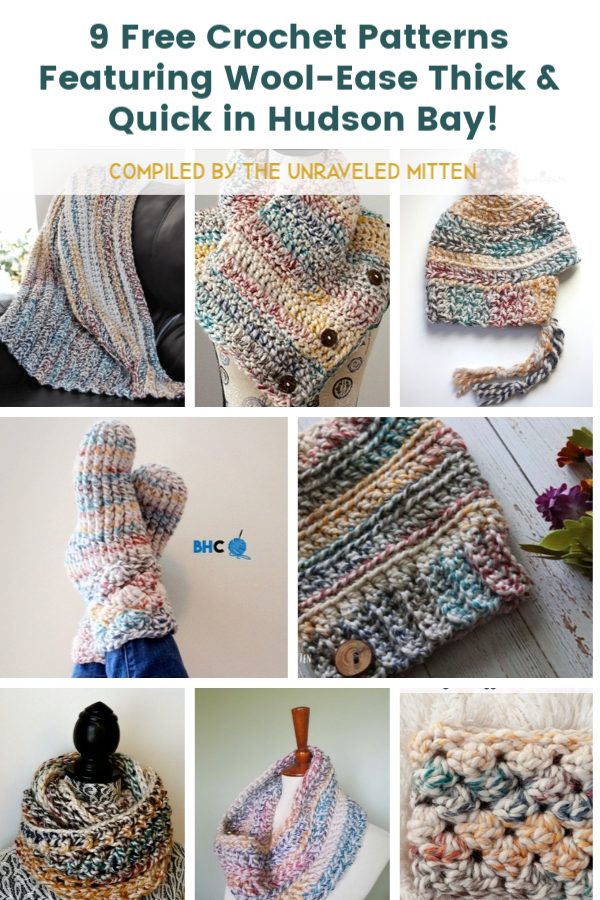9 Free Crochet Patterns Featuring Wool-Ease Thick and Quick in Hudson Bay | The Unraveled Mitten