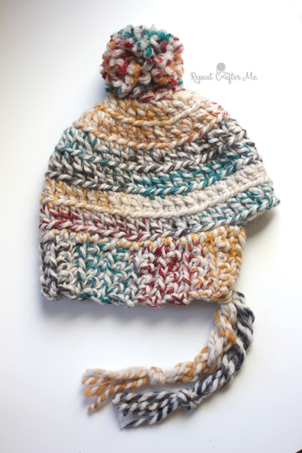 Hudson Hat and Mittens by Repeat Crafter Me | Free Crochet Pattern | Part of a round up  on The Unraveled Mitten