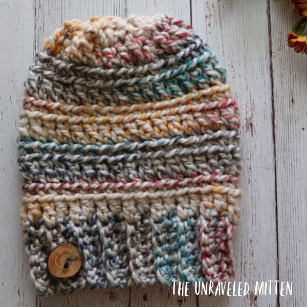 9 Free Crochet Patterns using Wool-Ease Thick and Quick in Hudson Bay | Oakland Chunky Hat | part of a round up The Unraveled Mitten