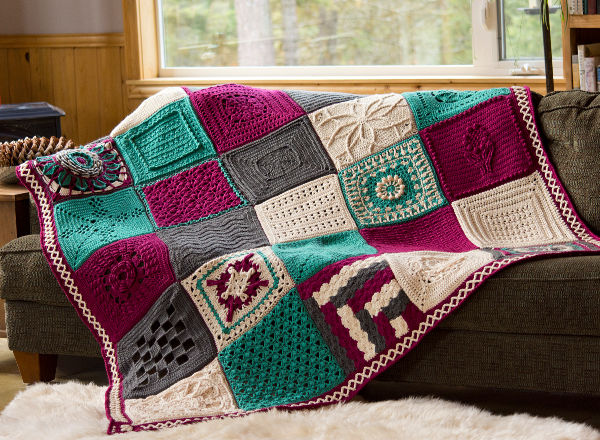"""Frosty Bloom 12"""" Granny Square 