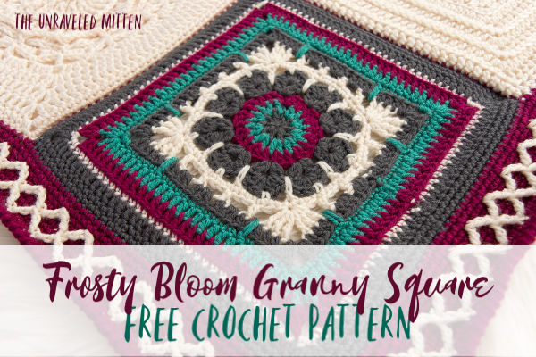 "Frosty Bloom 12"" Granny Square 